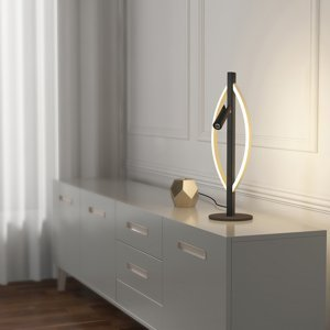 Lucande Lucande Matwei stolná lampa LED, oválna, mosadz