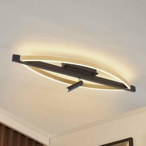 Lucande Lucande Matwei stropné LED svetlo, oválna, mosadz