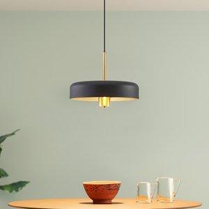 Lucande Lucande Filoreta závesná lampa, 35 cm, čierna