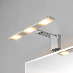 Lindby Zrkadlové LED svetlo Lorik, chróm