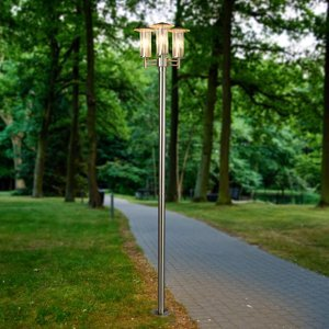 Lindby Moderné stĺpové svietidlo Filko, 3-plameňové
