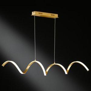 Wofi Závesné LED svietidlo Russell vznešený zlatý tón