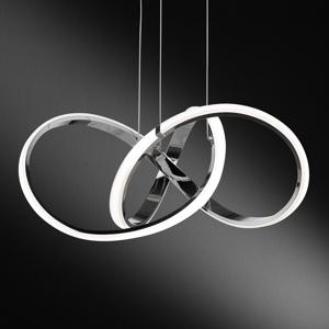 Wofi LED závesná lampa Indigo, chróm