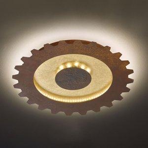 Wofi Závesné LED Leif vzhľad ozubeného kolesa Ø 40cm