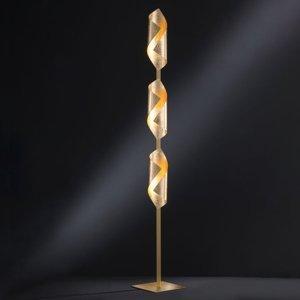Wofi Stojaca LED lampa Safira v lesklej zlatej