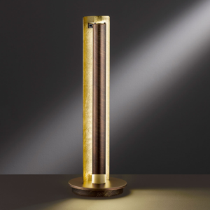 Wofi Stolná LED lampa Lyon so zlatými akcentmi
