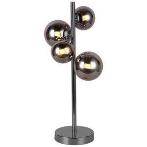 Wofi Stolná LED lampa Villa sklenené gule, 4-plameňová