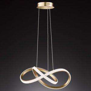 Wofi Závesné LED svietidlo Indigo, zlaté matné
