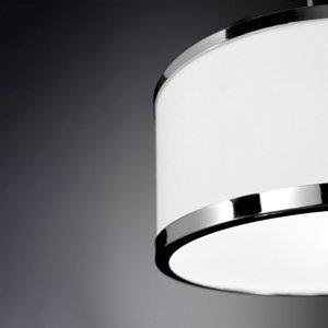 Wofi Závesná lampa Chiara, 1-pl. chróm/biela