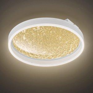 Wofi Stropné LED svetlo Bali, stmievateľné, zlaté 40cm