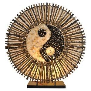 Woru Stolná lampa Ying Yang Batur okrúhla 40cm hnedá