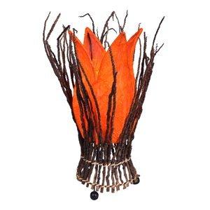 Woru Kvetinová stolná lampa Stella, oranžová