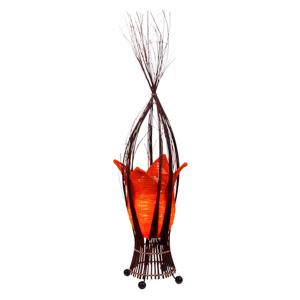 Woru Stolná lampa Elena s oranžovým látkovým tienidlom