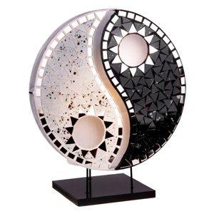 Woru Stolná lampa Ying Yang mozaika čierna