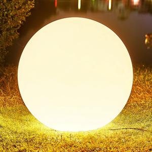 Arcchio Arcchio Orlana, svetelná guľa, IP65, biela, 77 cm