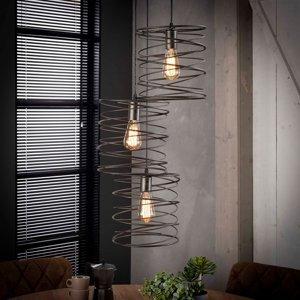 ZIJLSTRA Závesná lampa Swirlaronda, troj-plameňová