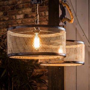 ZIJLSTRA Závesná lampa Restrickt, dvoj-plameňová