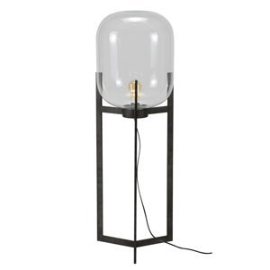 ZIJLSTRA Stojaca lampa Vetallo – číre sklo, starožitné Ag