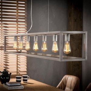 ZIJLSTRA Závesná lampa Perpendillumina 7-pl, striebro matná