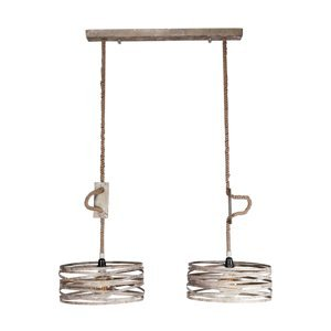 ZIJLSTRA Závesná lampa Roperound, 2-plameňová