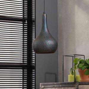ZIJLSTRA Závesná lampa Bombur 1-plameňová čierno-hnedá