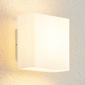 Arcchio Arcchio Daya sklenená nástenná LED, hranatá, opál
