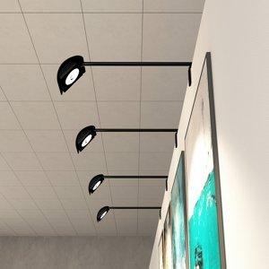 Arcchio Arcchio Macey displejové LED, čierne
