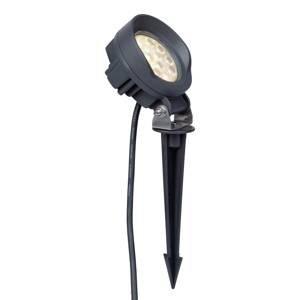 Lindby Lindby Emar LED svetlo s hrotom do zeme tmavosivá