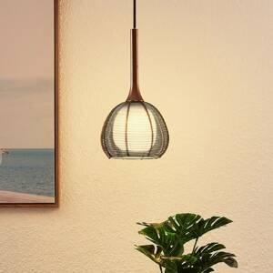 Lucande Lucande Tetira závesná lampa 1-pl., 16,5cm, hnedá