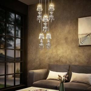 Lucande Lucande Yasanie závesné LED svietidlo 5-pl okrúhle