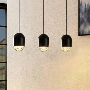 Lucande Lucande Amielle závesná lampa, 3-plameňová, čierna