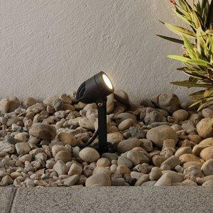 Lampenwelt.com Vonkajšie LED svietidlo Timko hrot do zeme čierne