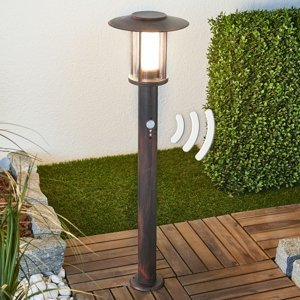 Lindby Stĺpikové LED svietidlo Pavlos so snímačom