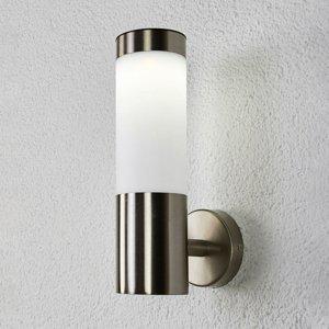 Lindby Valcová solárna LED lampa Aleeza ušľachtilá oceľ
