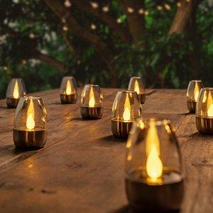 Lindby Dekoratívne solárne stolné LED lampy Pedas 10 ks