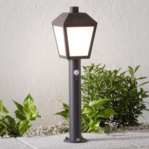 Lampenwelt.com Soklové LED svietidlo Bendix so snímačom