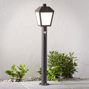 Lampenwelt.com Chodníkové LED svietidlo Bendix so snímačom