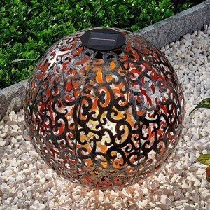 Lindby Lindby Eduta solárna LED lampa striebro–zlato