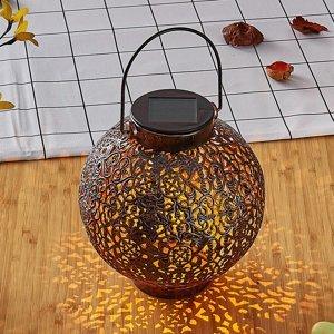 Lindby Lindby Dunjaris solárna LED lucerna ornamenty meď