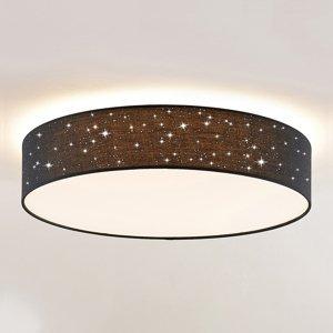 Lindby Lindby Ellamina stropné LED, 60 cm, čierna