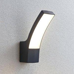 Lindby Vonkajšie nástenné LED svietidlo Ilvita antracit
