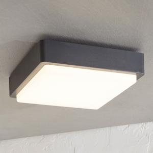 Lindby Vonkajšie stropné LED svietidlo Nermin hranaté