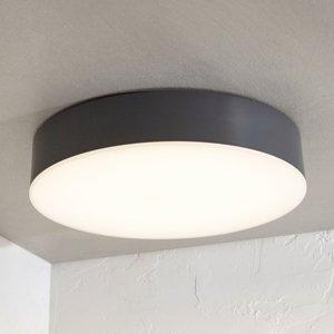 Lampenwelt.com Vonkajšie stropné LED svietidlo Lyam tmavosivé