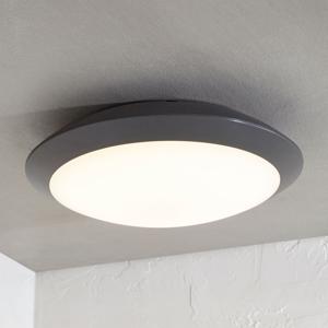 Lampenwelt.com Vonkajšie stropné LED svietidlo Naira sivé bez