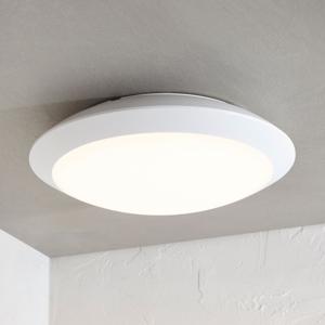 Lampenwelt.com Vonkajšie stropné LED svietidlo Naira biele snímač