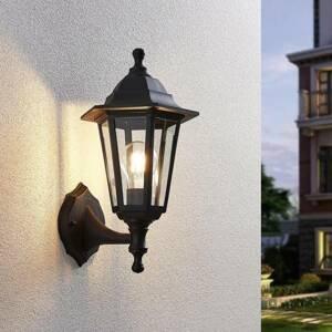 Lampenwelt.com Vonkajšie nástenné LED svetlo Iavo čierna