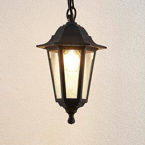 Lindby Vonkajšia závesná lampa Nane v tvare lucerny