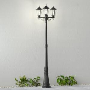 Lindby Stĺpové svietidlo Nane tvar lucerny 3-plameňové