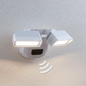Lindby Vonkajšie LED svetlo Nikoleta so snímačom 2-pl.