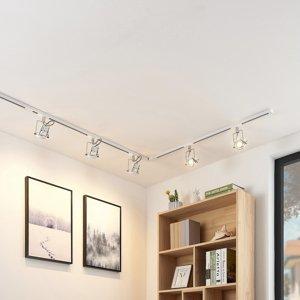 Arcchio 1-fázový koľajnicový LED systém Arika, 6-pl, biely
